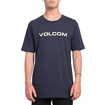 Volcom Men's T-Shirt ~ Crisp Euro navy