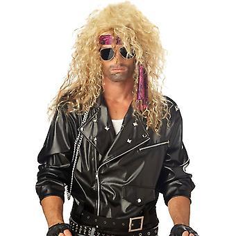 Blonde parykk For Heavy Metal Rocker