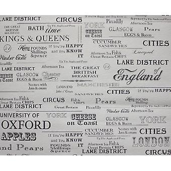 English Cities Wallpaper Textured Vinyl Typography Words Paste The Wall Cream