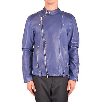 Brian Dales Blue Leather Outerwear Jacket