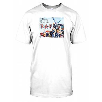 Flying with the RAF Poster Mens T Shirt