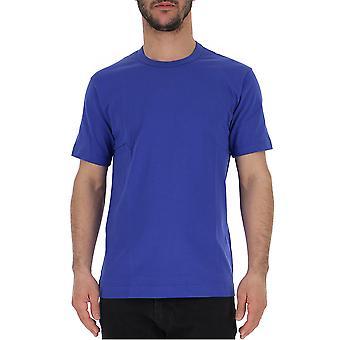 Comme Des Garçons Blue Cotton T-shirt
