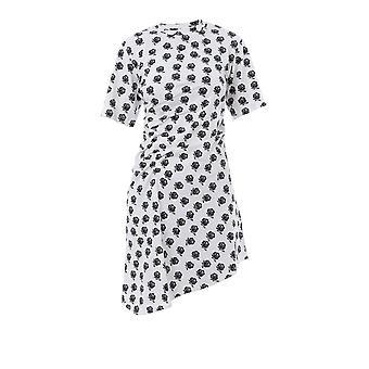Baumwoll-Kleid von Kenzo weiß/schwarz