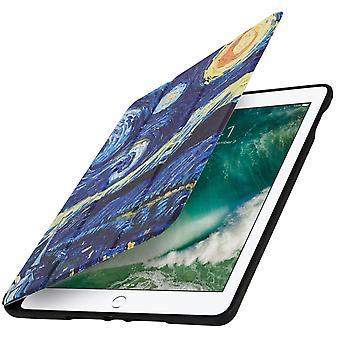 iPad 9,7 étui 2017/iPad 5/iPad 2018 Starry Night Video/clavier stand