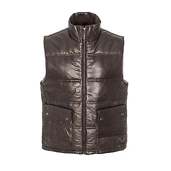 Men's Puffa Gillet Patch Pocket - Brown