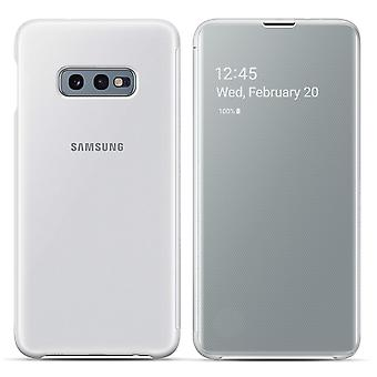 Galaxy S10e Case Clear View Touch Flap Translucent Original White