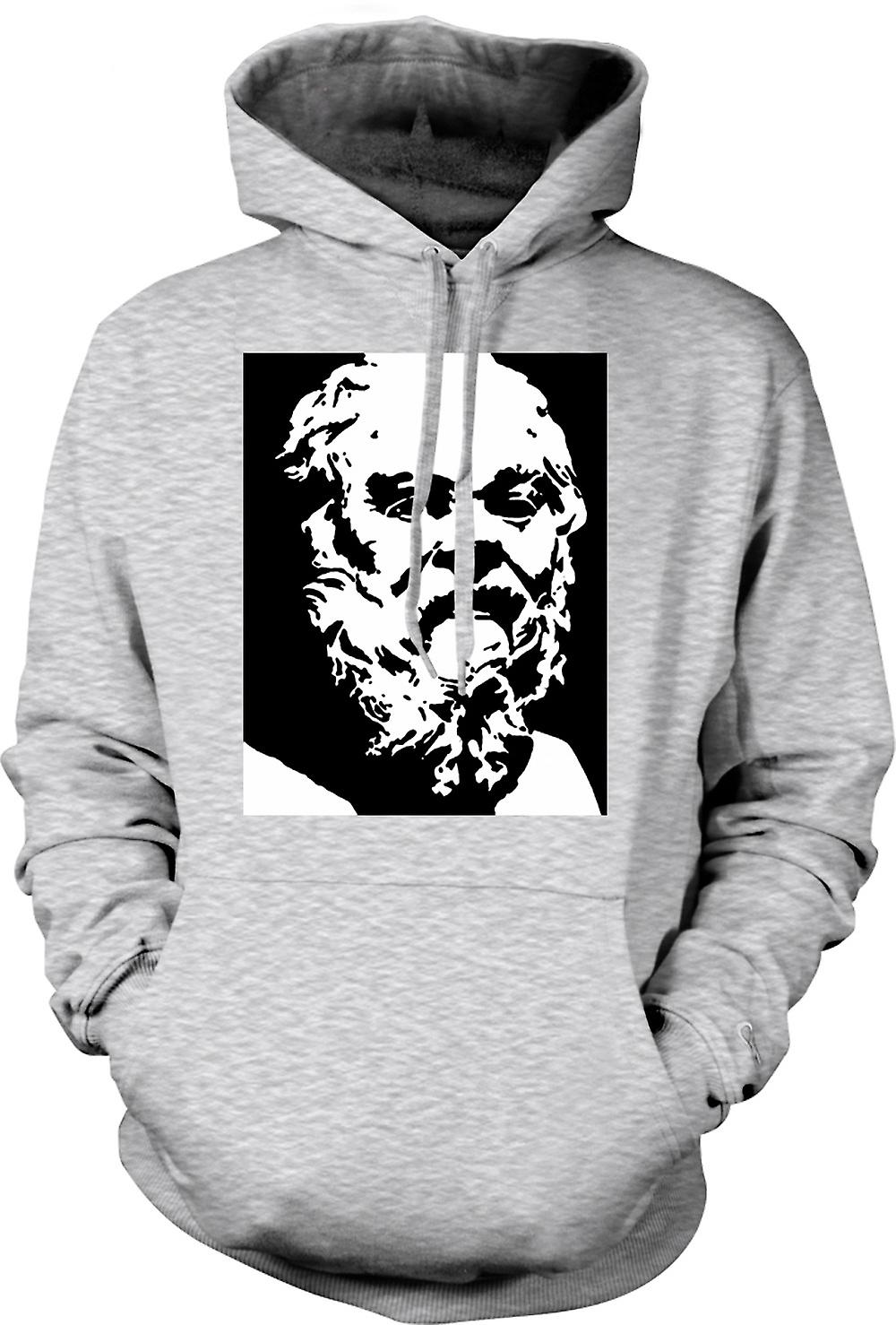 Mens Hoodie - Socrates - Stencil Icon