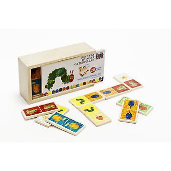 De zeer hongerig Caterpillar houten Domino's Rainbow ontwerpen