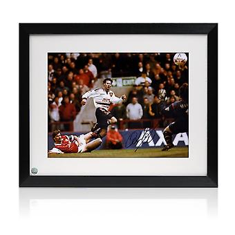 Framed Ryan Giggs Signed Manchester United Photo: FA Cup Semi Final Wonder Goal