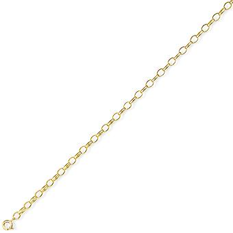 Jewelco London 9ct Light Yellow Gold - Heavy Oval Belcher Pendant Chain Necklace - 4mm gauge