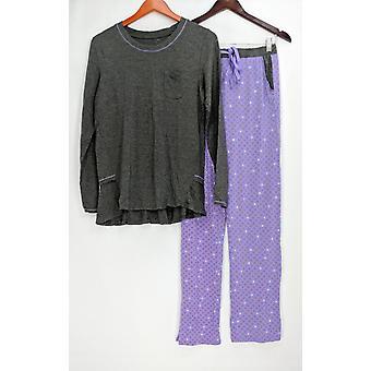 Cuddl Duds Women's Pajama Sets Softwear w/ Stretch Novelty Gray A294768