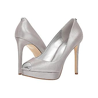 Michael Michael Kors Womens Erika Leather Peep Toe Platform Pumps