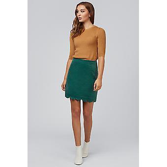 Louche Alicja Cord Mini Skirt Green