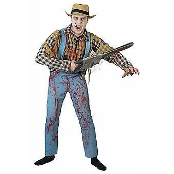 Costume da giardiniere zombi Uomo Contadino Contadino Lavoro da uomo Costume per uomo