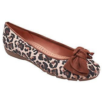 Gabor Redshank Leopard Print Bow Ballet Pump