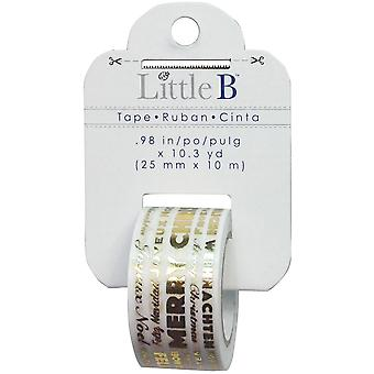 Little B Decorative Foil Tape 25mmX10m-Merry Christmas Word Play LBFT25MM-765