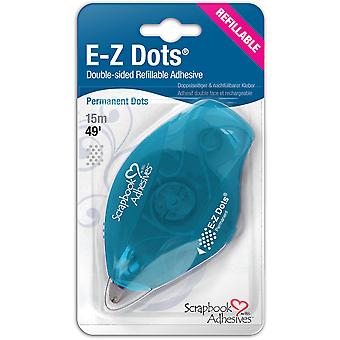 Ez Dots Refillable Dispenser with Permanent Adhesive 49Ft Permanent 12026