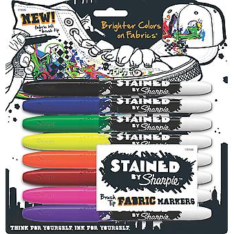 Stained By Sharpie Fabric Markers 8 Pkg Assorted Colors 1779005