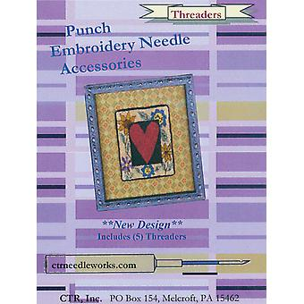Punch Embroidery Needle Threaders 5 Pkg Ctrndla1