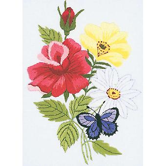 Butterfly & Floral Embroidery Kit 5
