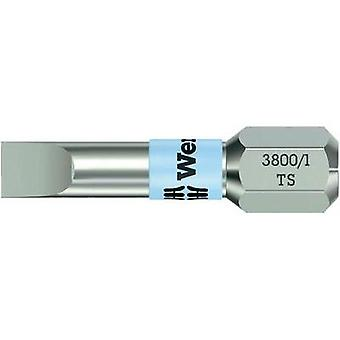 Slot drive bit 5.5 mm Wera 3800/1 TS 0.8 X 5.5 X 25 MM Stainless steel D 6.3 1 pc(s)