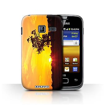 STUFF4 Case/Cover for Samsung Galaxy Y Duos/S6102/Oak Tree Orange/Sunset Scenery