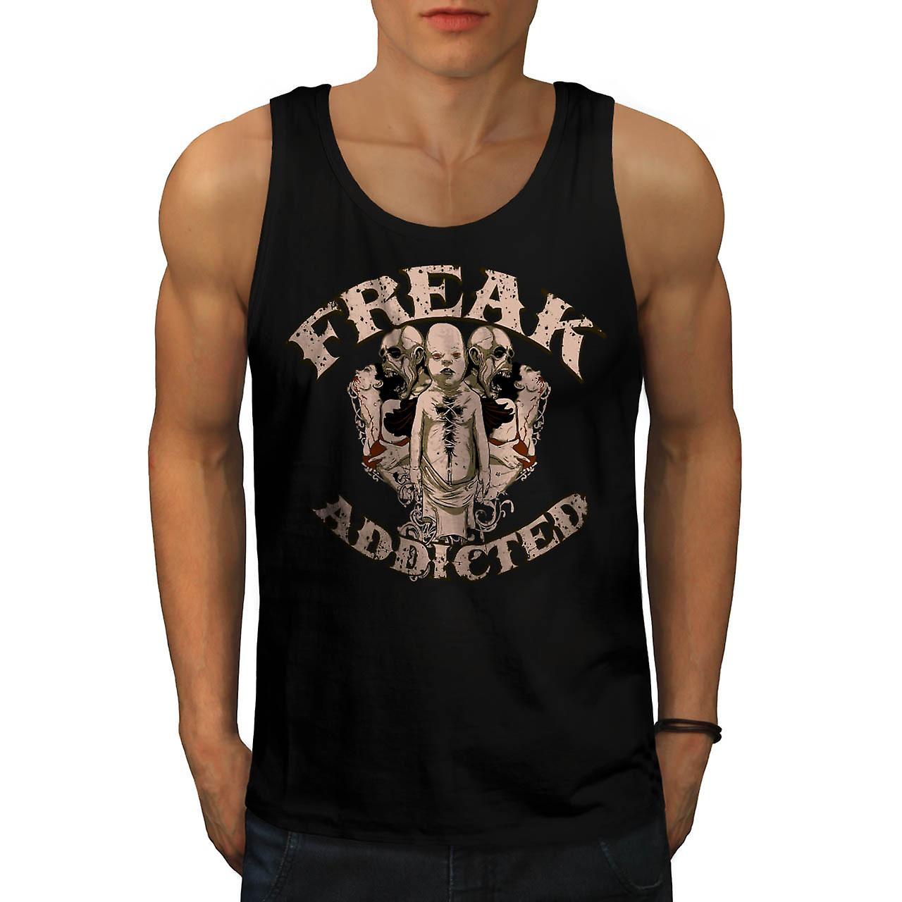 Freak Die Addict Baby Ghost Kids Men Black Tank Top | Wellcoda