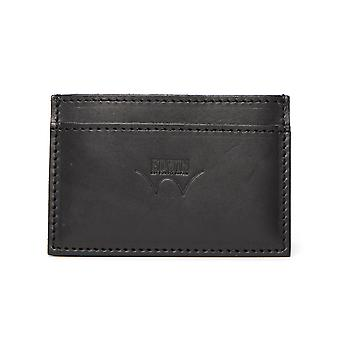 Edwin Black Leather Card Holder