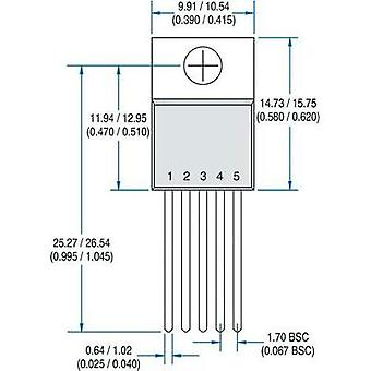 PMIC - gate drivers IXYS IXDD609CI Non-inverting Low side TO 220 5