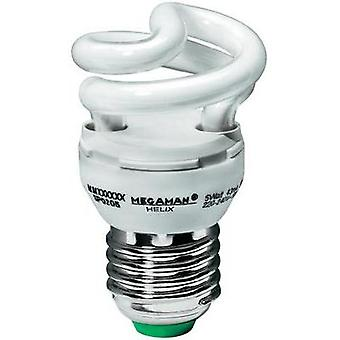 Energy-saving bulb 90 mm Megaman 230 V E27 5 W = 30 W Super warm white EEC: A Spiral shape Content 1 pc(s)