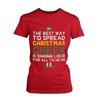 Beste Weg, um Christmas Cheer Holiday Grafik verteilt Tee - roten Baumwoll T-Shirt