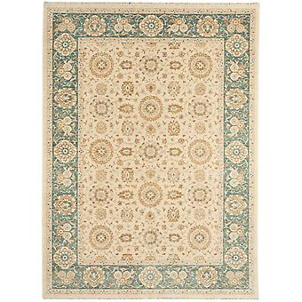 Whitby Natural & Blue Traditional Wool Rug