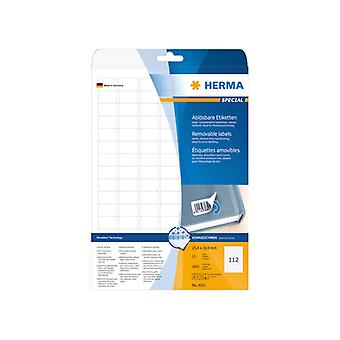 Labels white HERMA Movables 25, 4 x 16, 9 A4 2800pcs