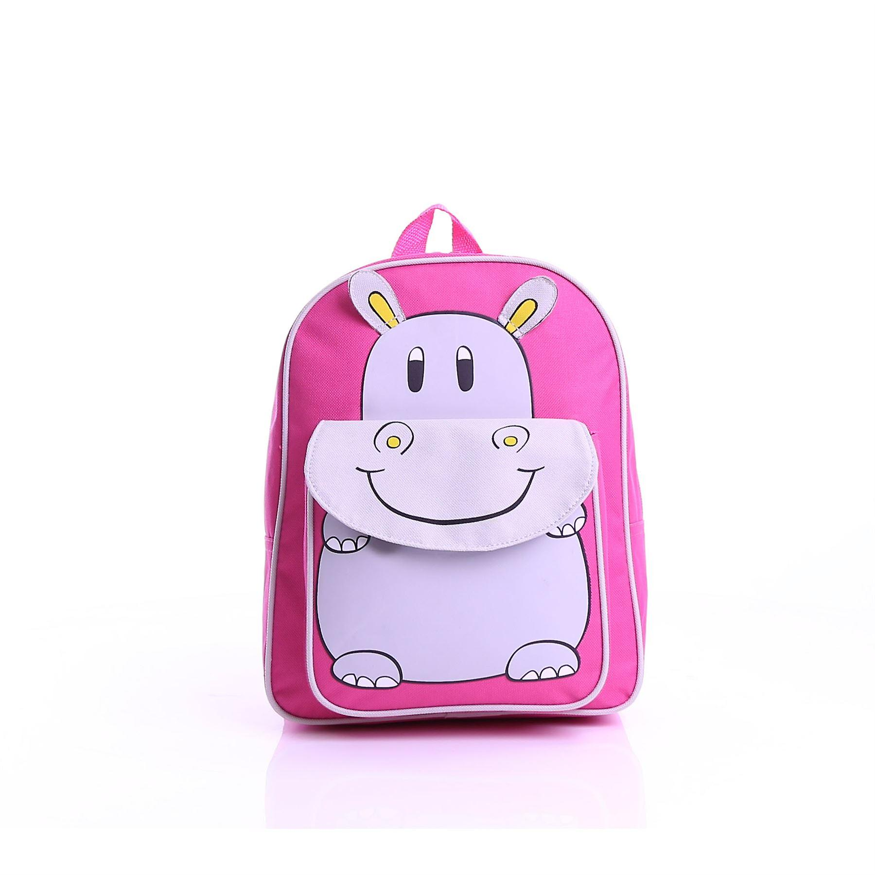 Karabar Kids Hippo Backpack, Pink