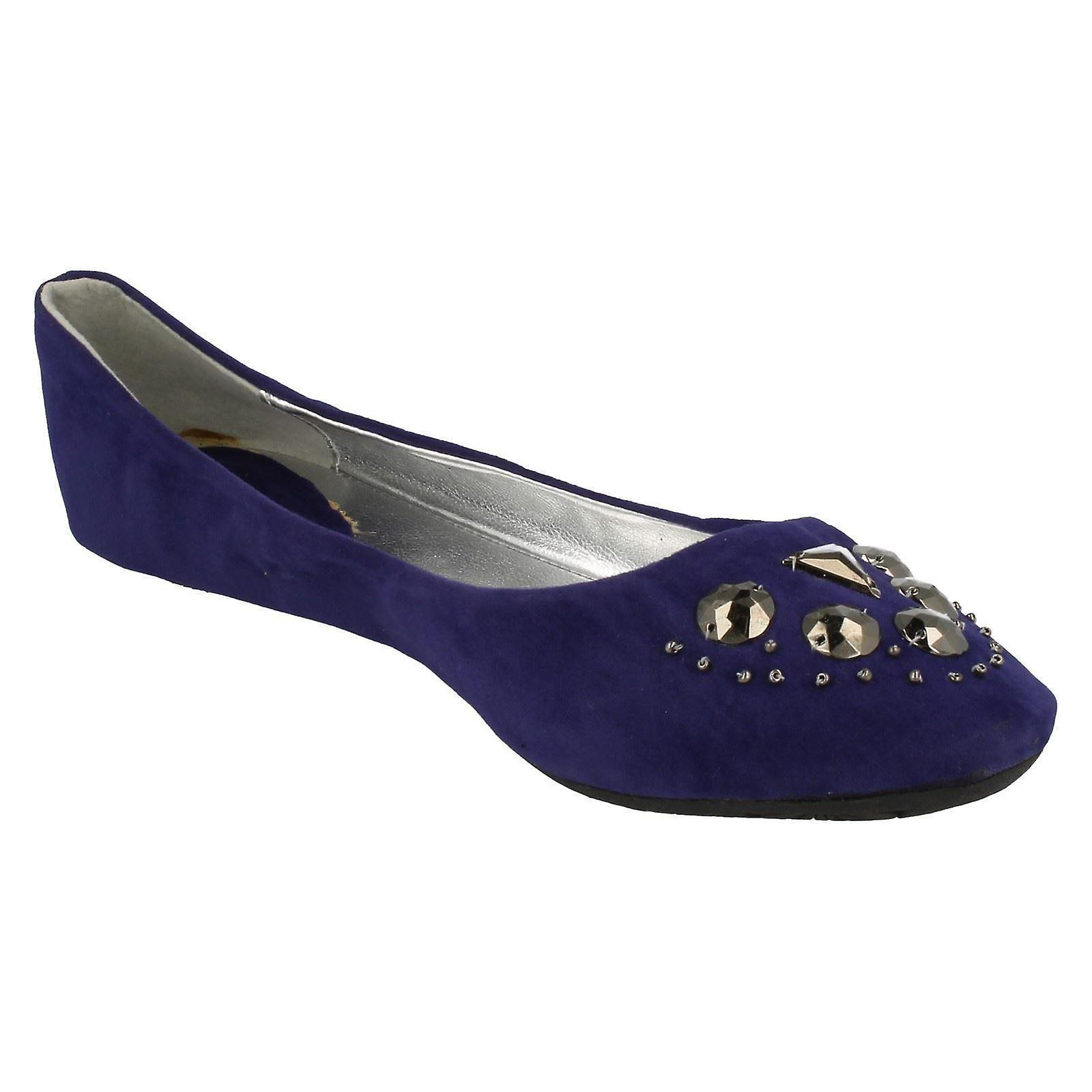 Ladies Spot Style On Ballerina Style Spot Flat Shoes F8623 4f945c