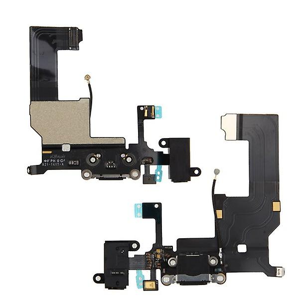 Apple iPhone 5 Flex cable dock connector charge Jack Black