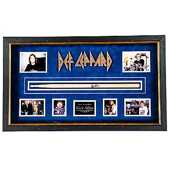 Def Leppard - Autographed Drumstick Signed by Rick Allen in Framed Case