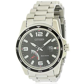 Citizen Eco-Drive PRT RVS Mens Watch AW7030-57E