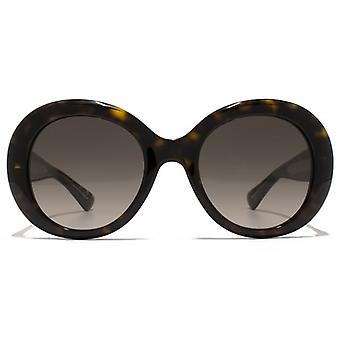 Gucci GG Logo Round Sunglasses In Dark Havana