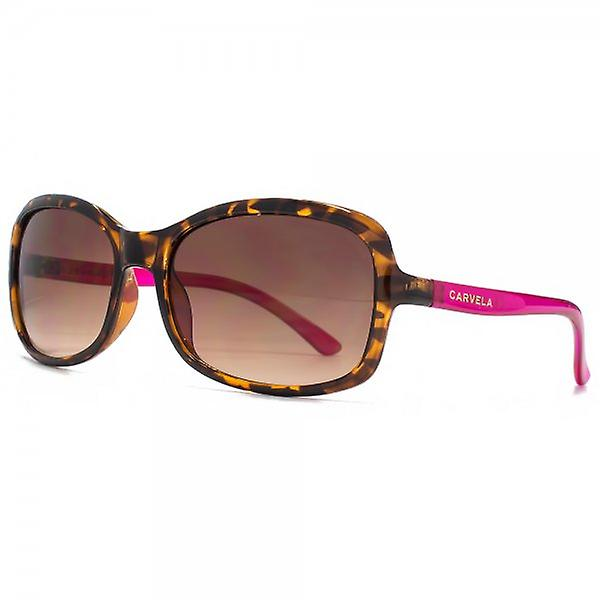 Carvela Small Rectangle Sunglasses In Tortoiseshell & Raspberry