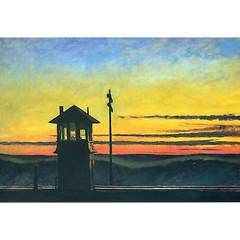 Edward Hopper - Railroad Sunset Poster Print Giclee