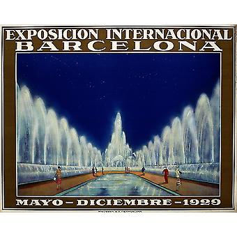 Poster for the International Exhibition Barcelona Poster Print Giclee