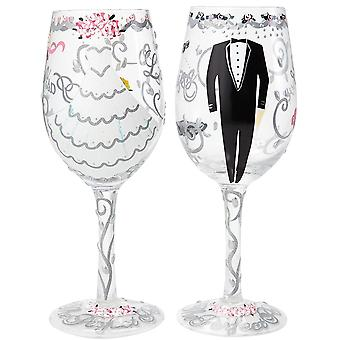 Lolita Bride & Groom Wine Glasses, Wedding Gift Set