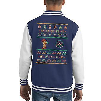 Wünschen Sie ein Metroid Weihnachten Kid Varsity Jacket
