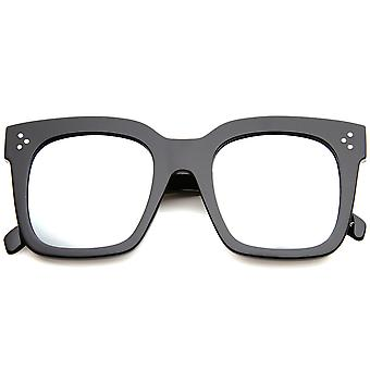 Dame Horn kantede solbriller med UV400 beskyttet spejlede linse