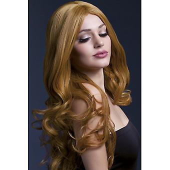 Brown wig with beautiful curl