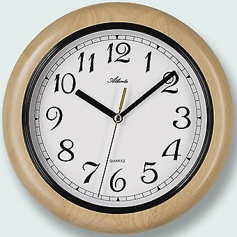 Atlanta wall clock quartz wooden cabinet