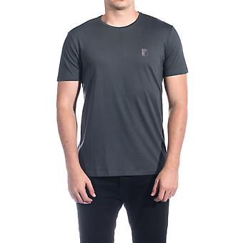 Versace Collection Men Medusa Logo Crew Neck T-Shirt Dark Grey