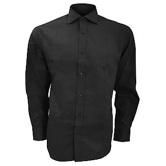 Kustom Kit Mens Superior Oxford Long Sleeved Shirt