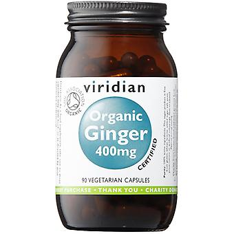 Viridian Ginger Root 400mg (Organic),  90 Veg Caps